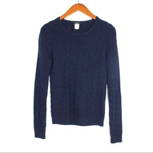 J.Crew Classic Cambridge Cable Knit Crew Sweater